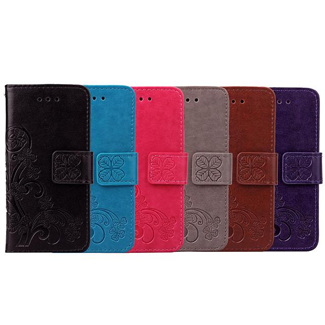 Custodia Per Samsung Galaxy A7 (2017) Porta-carte di credito / Con chiusura magnetica Integrale Fiori Mandala / Tinta unita Morbido pelle sintetica