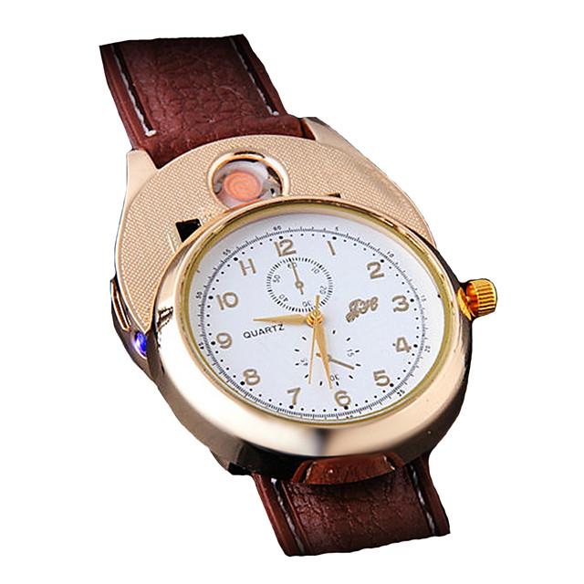 رجالي ساعة المعصم كوارتز ترف الكرونوغراف مماثل براون / الذهب أبيض / البيج أسود / سنتان / مطاط / ياباني / طرد كبير / ياباني