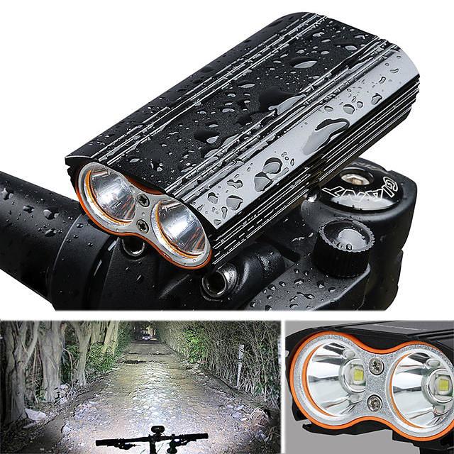 LED Eclairage de Velo Eclairage de Vélo Avant Phare Avant de Moto Vélo Cyclisme Imperméable Portable Largage rapide 2000 lm Rechargeable USB Camping / Randonnée / Spéléologie Cyclisme