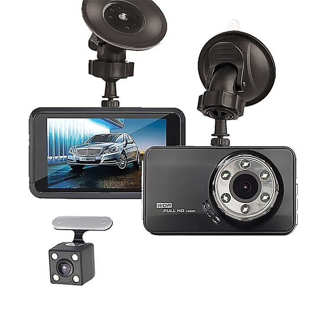T638+ 720p / 1080p New Design / Cool / Dual Lens Car DVR 170 Degree Wide Angle 3 inch LTPS Dash Cam with Night Vision / G-Sensor / Parking Monitoring No Car Recorder / Loop recording