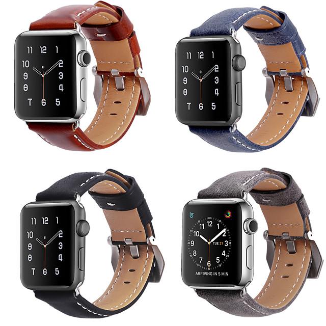 Ремешок для часов для Серия Apple Watch 5/4/3/2/1 Apple Кожаный ремешок Натуральная кожа Повязка на запястье