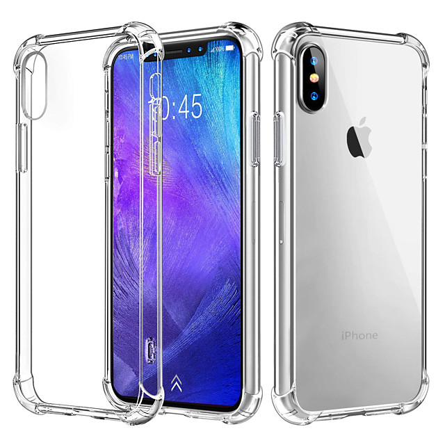 Hülle Für Apple iPhone 12 / iPhone 12 Mini / iPhone 12 Pro max Stoßresistent / Transparent Rückseite Solide Weich TPU