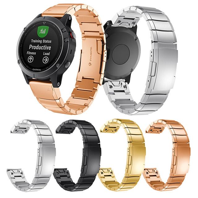 Ремешок для часов для Fenix 5 / Garmin Quatix 5 / Garmin Quatix 5 Sapphire Garmin Современная застежка Нержавеющая сталь Повязка на запястье