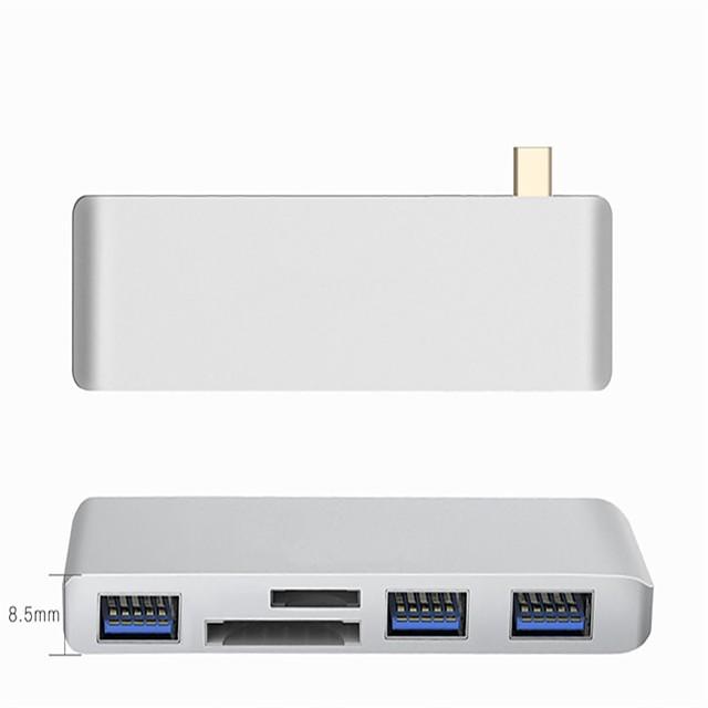 Type-C Adaptateur <1m / 3ft 1 à 5 Aluminium Adaptateur de câble USB Pour Macbook / MacBook Air / MacBook Pro