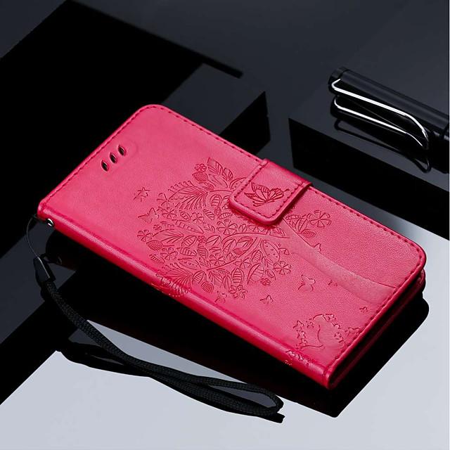 Coque Pour Huawei Mate 10 / Mate 10 pro / Mate 10 lite Portefeuille / Porte Carte / Avec Support Coque Intégrale Arbre Dur faux cuir