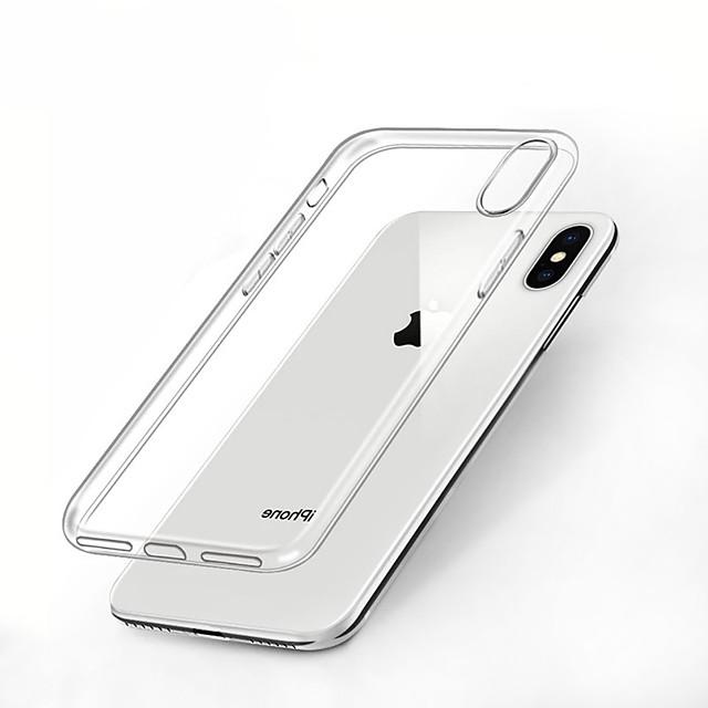 Кейс для Назначение Apple iPhone XS / iPhone XR / iPhone XS Max Защита от удара / Прозрачный Кейс на заднюю панель Однотонный Мягкий ТПУ