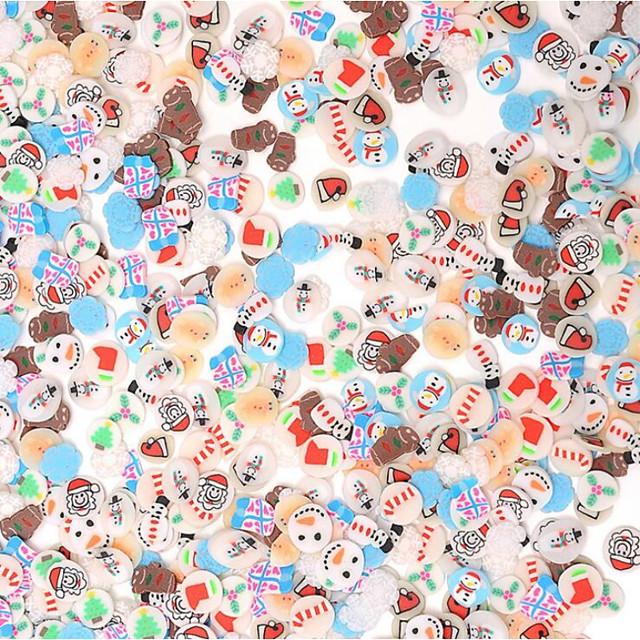 10000 pcs Meilleure qualité Matériau écologique Tranches de fimo aux fruits Pour Série de dessin animé Arbre de Noël Manucure Manucure pédicure Festival Mode