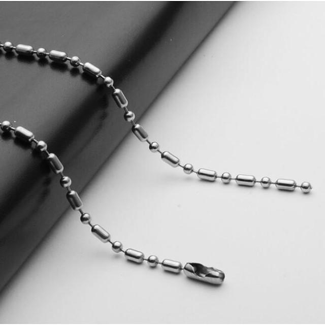 رجالي قلادات السلسلة واحد ستراند كرة سلسلة مارينر أوروبي الفولاذ المقاوم للصدأ فضي 55 cm قلادة مجوهرات 1PC من أجل مناسب للبس اليومي