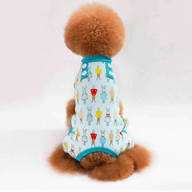 كلاب قطط منامة ملابس الجرو هندسي زهور تصميم أنيق كاجوال / يومي ملابس الكلاب ملابس الجرو ملابس الكلب أزرق زهري أخضر كوستيوم للفتاة والفتى الكلب قطن S M L XL XXL