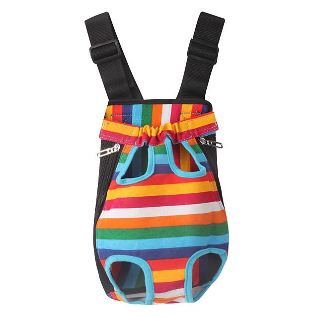 كلاب قطط الحاملة حقائب تحمل على الظهر وللسفر المحمول كاجوال / يومي مخطط قماش شريط
