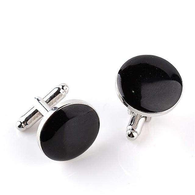Boutons de manchettes Grande occasion Mode Broche Bijoux Blanche Noir Pour Mariage Soirée