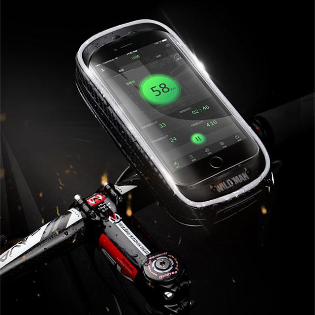 Sacoche de Guidon de Vélo 5.7-6.3 pouce Ecran tactile Etanche Cyclisme pour Cyclisme Noir