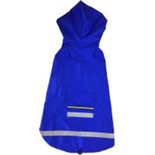 Chien Chat Imperméable Vêtements pour chiots Couleur Pleine Etanche Coupe-vent De plein air Vêtements pour Chien Vêtements pour chiots Tenues De Chien Jaune Rouge Bleu Costume pour fille et garçon