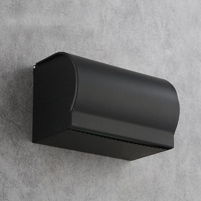 حامل ورق التواليت تصميم ممتاز / متعددة الوظائف الحديثة الألومنيوم 1PC حامل ورق التواليت مثبت على الحائط