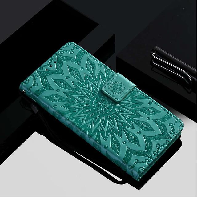 Coque Pour Samsung Galaxy A6 (2018) / A6+ (2018) / A3 (2017) Portefeuille / Porte Carte / Avec Support Coque Intégrale Fleur Dur faux cuir