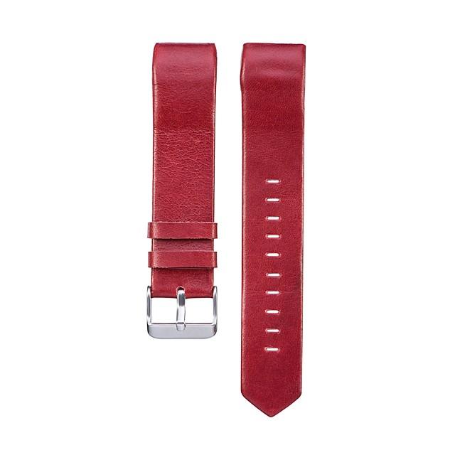 مشاهدة الفرقة ل fitbit تهمة 2 fitbit الفرقة الرياضية حزام جلد طبيعي المعصم
