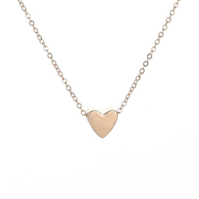 نسائي قلادة سحر كلاسيكي ستايل قلب سيدات بسيط كلاسيكي سبيكة ذهبي 48+5 cm قلادة مجوهرات 1PC / حزمة من أجل مواعدة مناسب للخارج