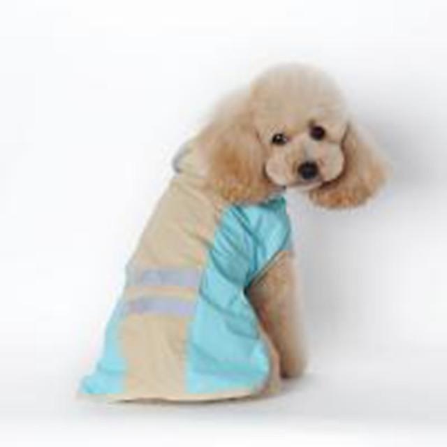 كلاب قطط معطف المطر ملابس الجرو لون سادة مقاومة الماء ضد الرياح الأماكن المفتوحة ملابس الكلاب ملابس الجرو ملابس الكلب أزرق زهري كوستيوم للفتاة والفتى الكلب جلد PU S M L XL XXL 3XL