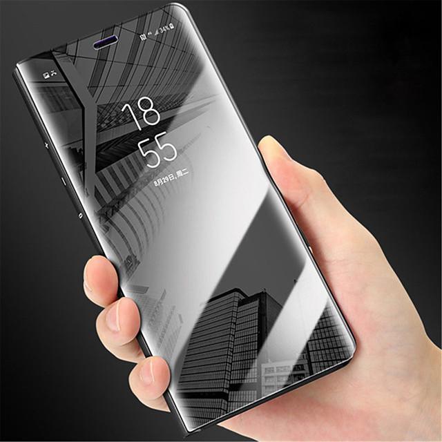 Coque Pour Samsung Galaxy Note 9 / Note 8 / Note 5 Miroir / Clapet Coque Intégrale Couleur Pleine Dur PC
