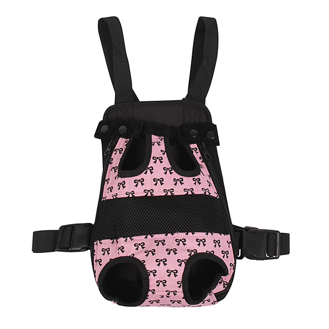 Dog Cat Carrier Bag Travel Backpack Portable Casual / Daily Bowknot Fabric Black Pink