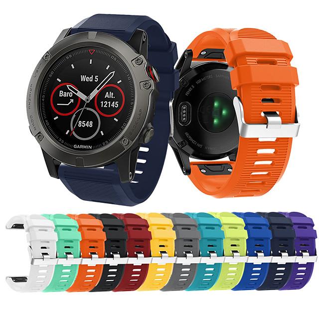 Watch kapela pro Fenix 5x Plus / Fenix 3 HR / Fenix 3 Garmin Sportovní značka Silikon Poutko na zápěstí