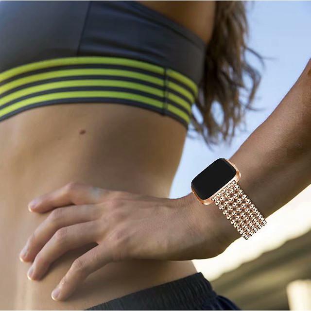 Watch Band na Fitbit Versa Fitbit Nowoczesna klamra Stal nierdzewna Opaska na nadgarstek
