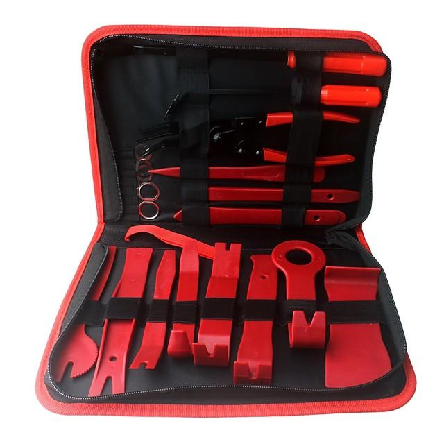 ziqiao 19шт. автомобиль ремонт разборка инструменты комплект автомобиль dvd стерео набор для ремонта внутренняя пластиковая обшивка панель приборная панель установка инструмент для удаления