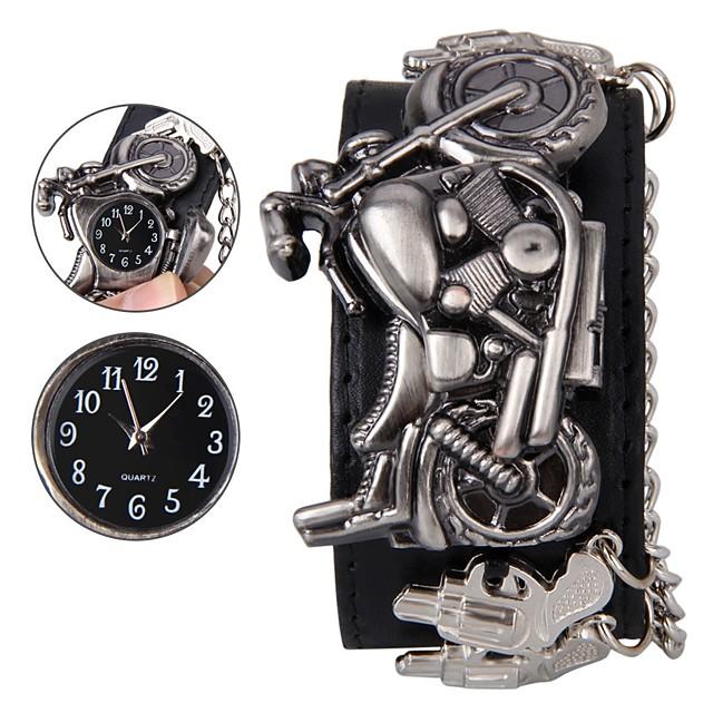 رجالي ساعة المعصم رقمي جمجمة ساعة كاجوال مماثل أسود / جلد طبيعي / جلد طبيعي