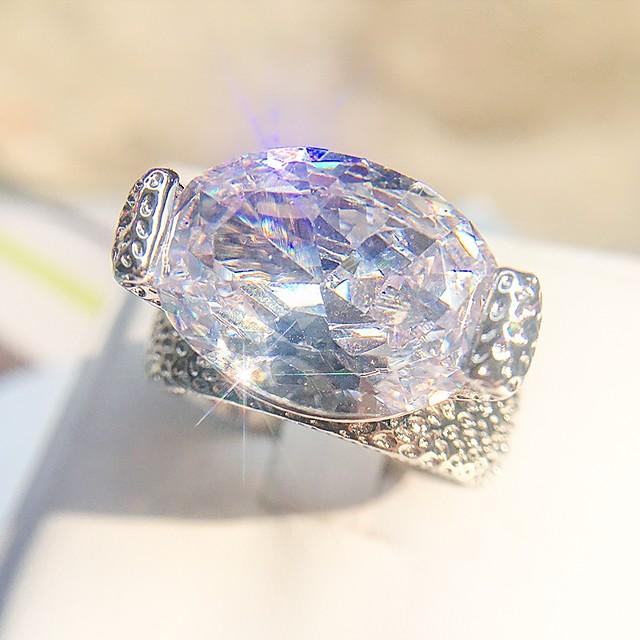 Statement Ring patiencespel Zilver Koper Platina Verguld Gesimuleerde diamant Creatief Dames Rock Hyperbool 1pc 6 7 8 9 10