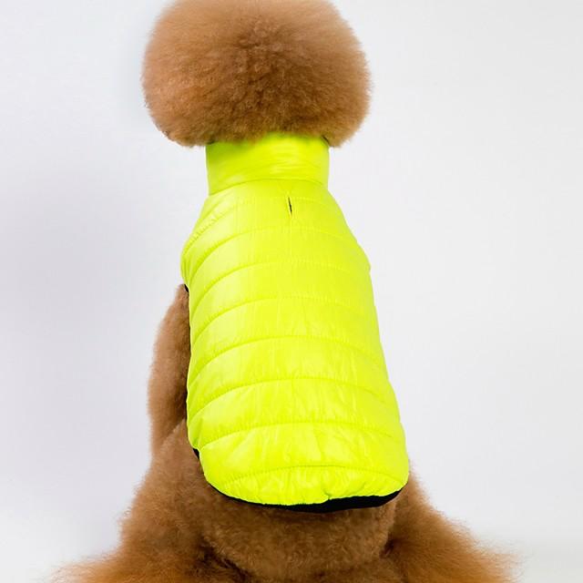 كلاب قطط المعاطف سترة ملابس الجرو لون سادة دافئ / تدفيئ أسلوب بسيط الأماكن المفتوحة الشتاء ملابس الكلاب ملابس الجرو ملابس الكلب أرجواني زهري أخضر كوستيوم للفتاة والفتى الكلب القطبية ابتزاز S M L XL
