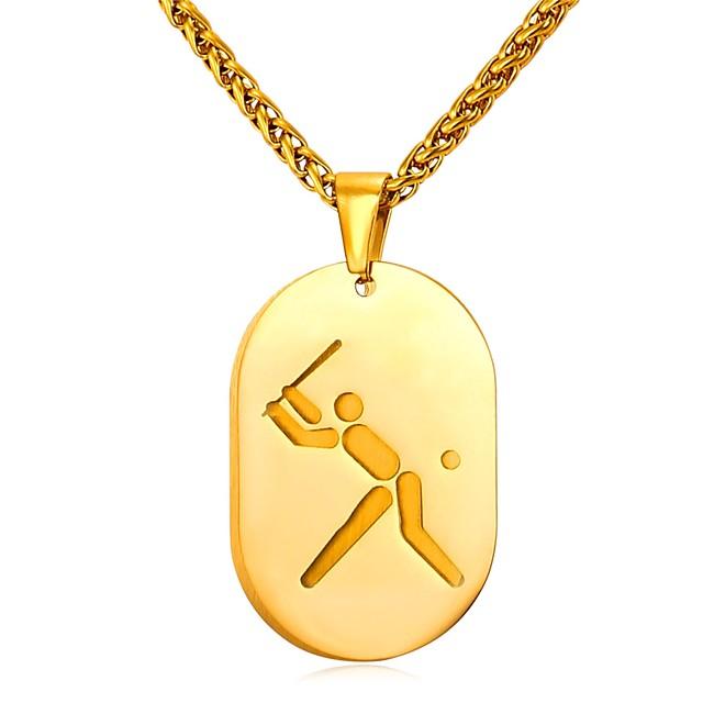 رجالي قلائد الحلي متعدد الطبقات عارضة / رياضي موضة الفولاذ المقاوم للصدأ ذهبي فضي 55 cm قلادة مجوهرات 1PC من أجل هدية مناسب للبس اليومي