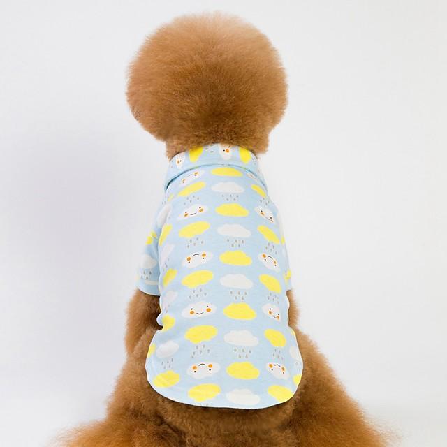 כלבים חתולים טישרט בגדי גור מעוטר דמות ספורט ושטח חימומים בגדים לכלבים בגדי גור תלבושות לכלבים כחול ורוד תחפושות לכלבת ילדה וילד כותנה S M L XL XXL