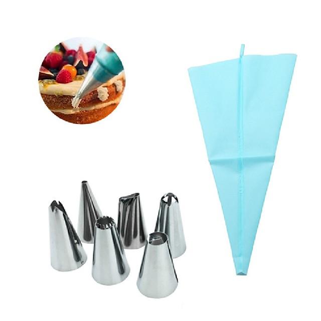 6 buc oțel inoxidabil reglabil design premium pentru tort pentru fursecuri pentru decoratori de desert de ciocolată covoare de gătit și garnituri tăietoare de prăjituri unelte de panificatie