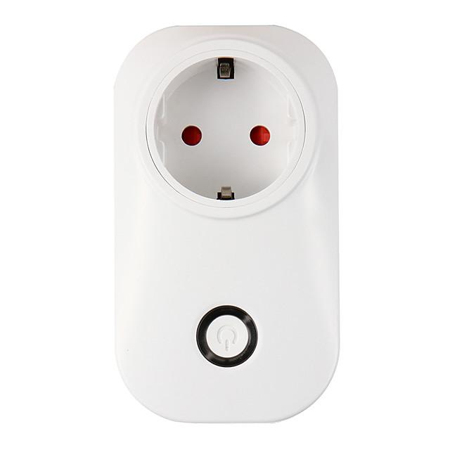 weto smart wi-fi fiche eu wifi prise de courant prise smart home domotique app switch pour iphone android avec alexa google home