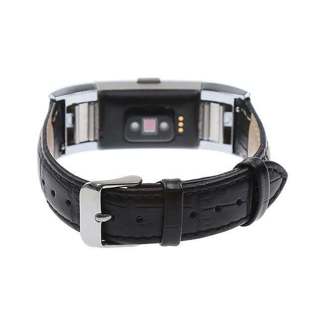 حزام إلى Fitbit Charge 2 فيتبيت عقدة جلدية جلد طبيعي شريط المعصم