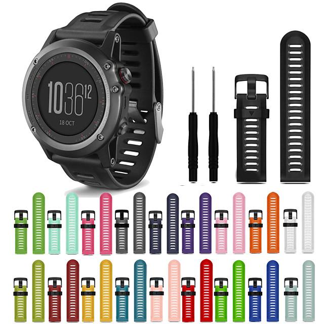 smartwatch band for fenix 6x / 6x pro / fenix 3 / 3hr / fenix5x / 5xplus / d2 / mk1 garmin sport band mote silikon håndleddet stropp