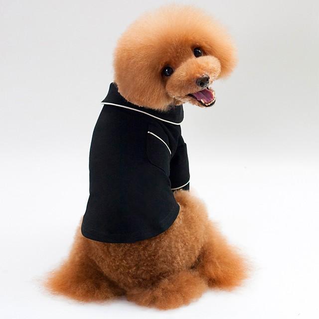 كلاب قطط منامة كنزة قطنية ملابس الجرو لون سادة كاجوال / يومي أسلوب بسيط ملابس الكلاب ملابس الجرو ملابس الكلب أسود كوستيوم للفتاة والفتى الكلب تيريليني S M L XL XXL