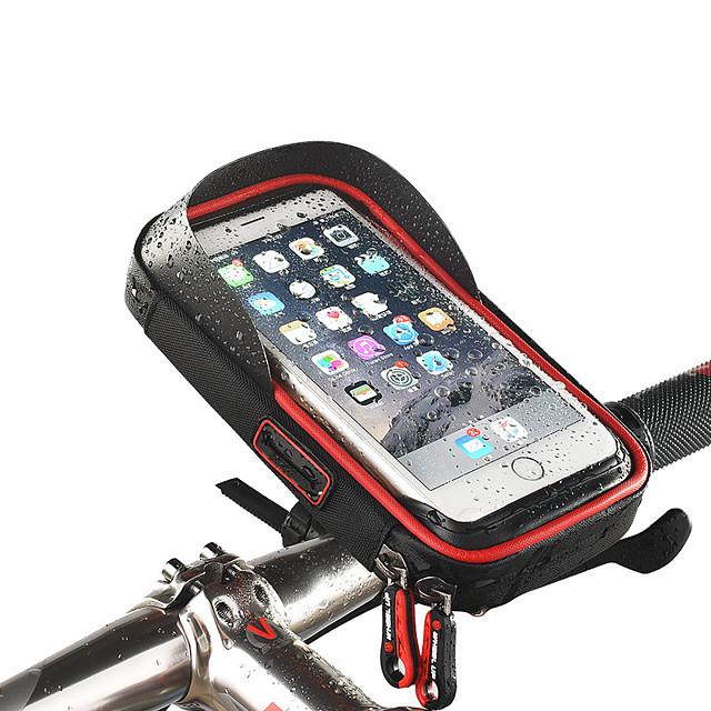 Τροχός επάνω Κινητό τηλέφωνο τσάντα Τσάντα για τιμόνι ποδηλάτου Οθόνη Αφής Αδιάβροχη Τρύπα ακουστικών Τσάντα ποδηλάτου TPU Σφουγγάρι Νάιλον Τσάντα ποδηλάτου Τσάντα ποδηλασίας iPhone X / iPhone XR