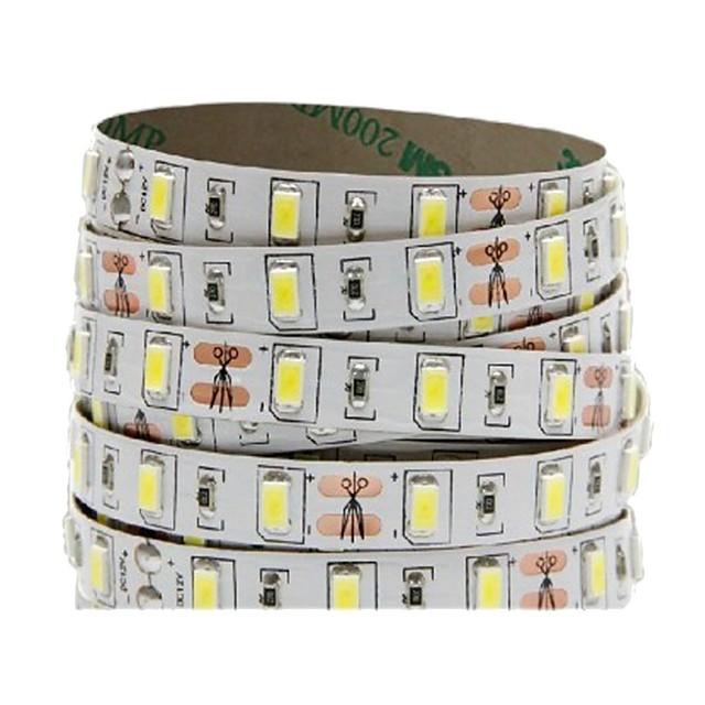 5m شرائط قابلة للانثناء لأضواء LED 300 المصابيح 5730 SMD 8mm 1PC أبيض دافئ أبيض كول أحمر اللصق التلقي أضواء شريط LED تيكتوك 12 V