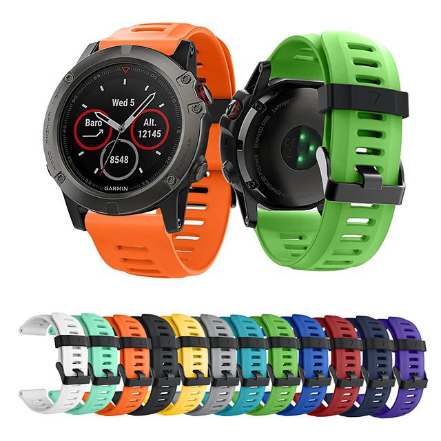 Bracelet de Montre  pour Fenix 5x Plus / Fenix 3 HR / Fenix 3 Garmin Bracelet Sport Silikon Sangle de Poignet
