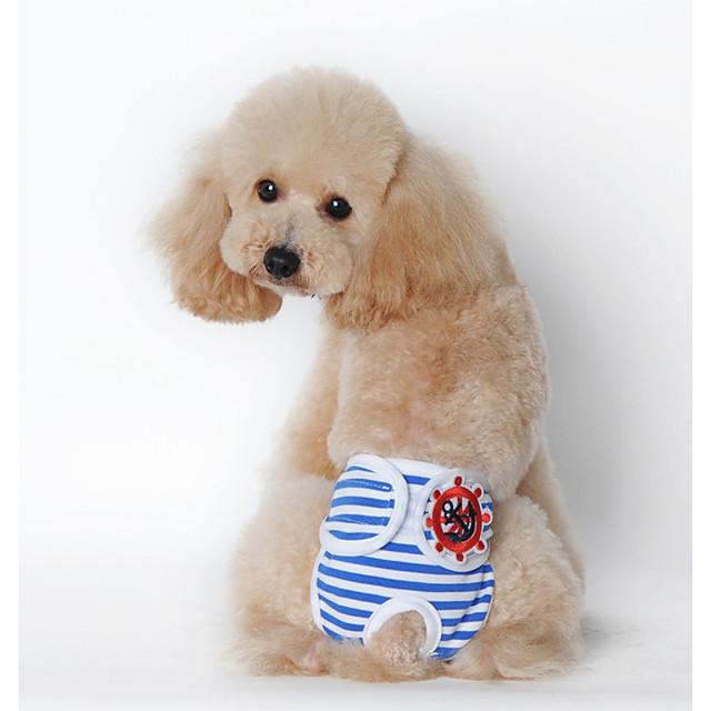 كلاب قطط منامة ملابس الجرو هندسي تصميم أنيق كاجوال / يومي ملابس الكلاب ملابس الجرو ملابس الكلب أصفر أزرق زهري كوستيوم للفتاة والفتى الكلب قطن S M L XL XXL