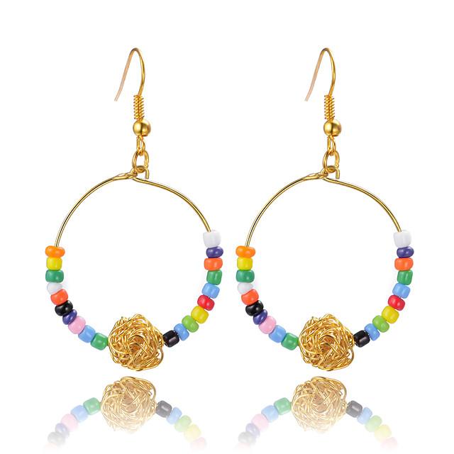 Femme Boucle d'Oreille Pendantes Perles dames unique Bohème Des boucles d'oreilles Bijoux Arc-en-ciel Pour Mariage Soirée 1 paire