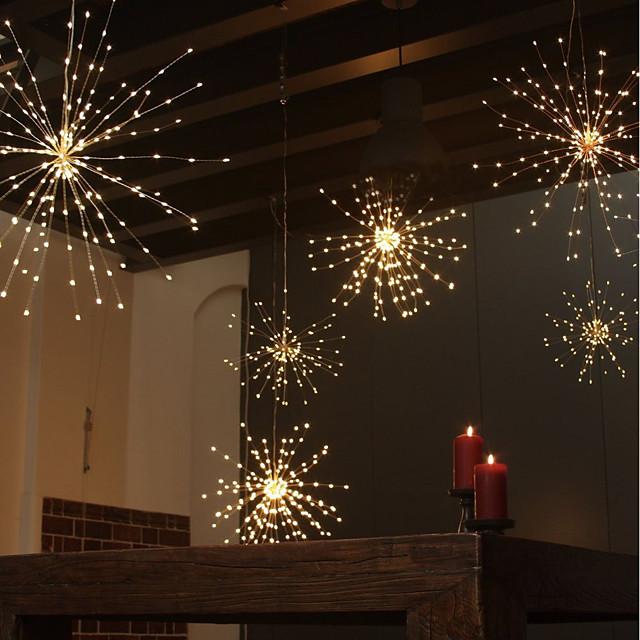 ZDM® 0.2M مجموعات ضوء 120 المصابيح مصلحة الارصاد الجوية 0603 1 13Keys المراقب البعيد 1SET أبيض دافئ عيد الميلاد الديكور الزفاف بطاريات آ بالطاقة / IP65