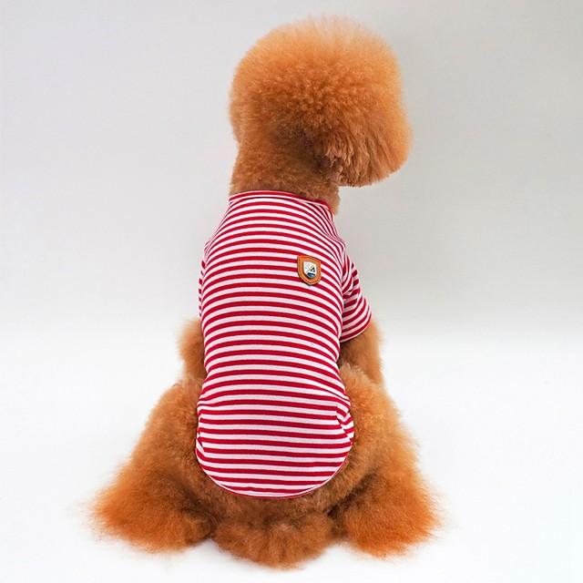 كلاب قطط T-skjorte ملابس الجرو مخطط أسلوب بسيط عارضة / رياضي ملابس الكلاب ملابس الجرو ملابس الكلب أحمر أزرق أخضر كوستيوم للفتاة والفتى الكلب قطن S M L XL XXL