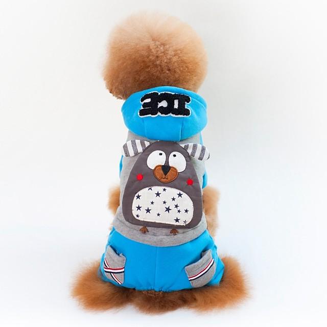 كلاب قطط المعاطف ملابس الجرو ألوان متناوبة منقوشة شخصية كاجوال / يومي أسلوب بسيط الأماكن المفتوحة الشتاء ملابس الكلاب ملابس الجرو ملابس الكلب أصفر أزرق كوستيوم للفتاة والفتى الكلب قطن S M L XL XXL