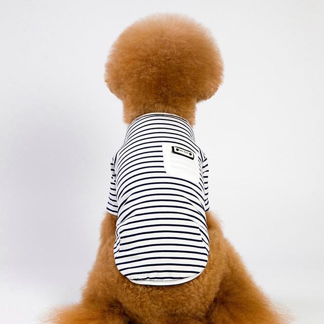 كلاب قطط كنزة قطنية ملابس الجرو مخطط ستايل رياضي كاجوال / يومي الأماكن المفتوحة ملابس الكلاب ملابس الجرو ملابس الكلب أبيض زهري كوستيوم للفتاة والفتى الكلب نسيج القطن S M L XL XXL