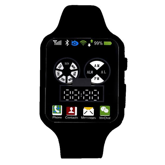 Dames Digitaal horloge Digitaal Modieus Waterbestendig Digitaal Wit Zwart Paars / Een jaar / Silicone / LCD / Een jaar