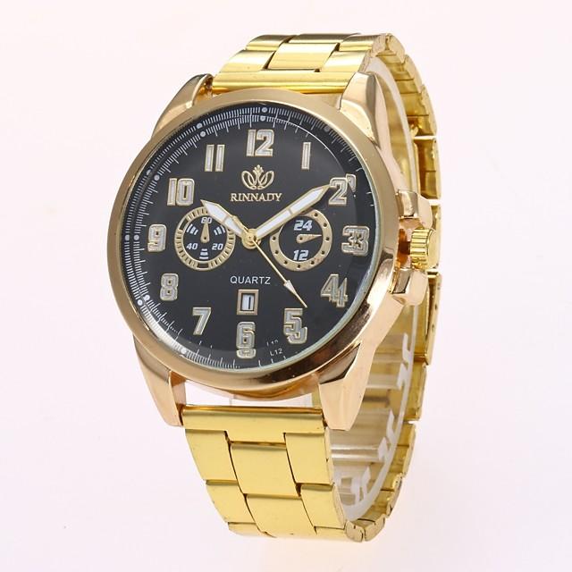 Bărbați Ceas de Mână Quartz Casual Calendar Analog Negru Auriu / Un an / Mare Dial