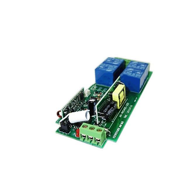 apprentissage de type 220v 4 voies télécommande commutateur métal push couvercle carré 4 bouton télécommande sans fil