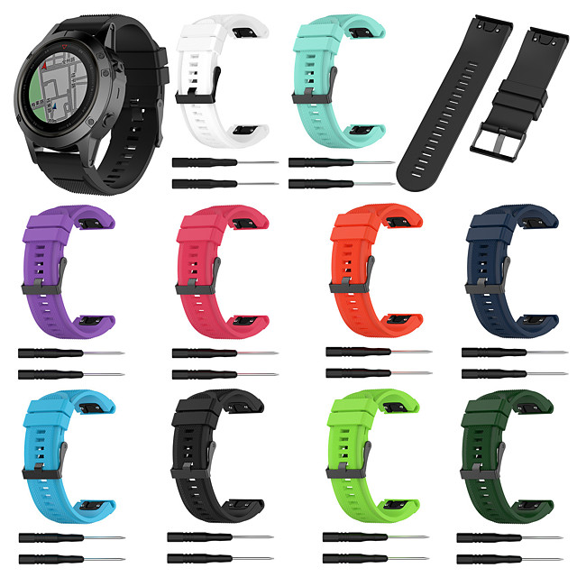 Uhrenarmband für Fenix 3 HR / Fenix 3 Garmin Sport Band Silikon Handschlaufe